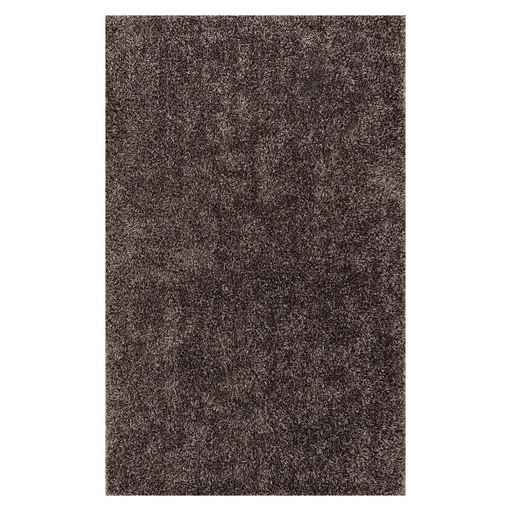 Lustrous Shoestring Shag Area Rug - Gray (5'x7'6)