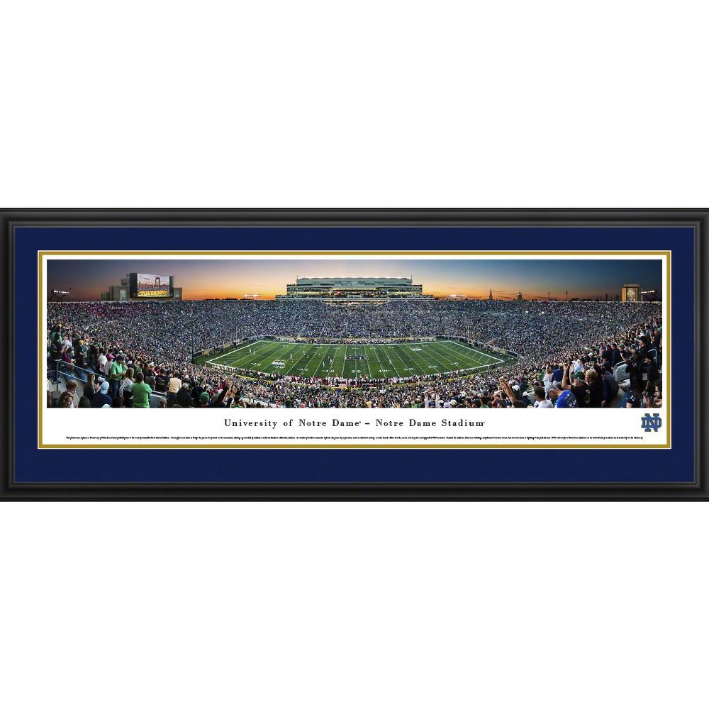 NCAANotre Dame Fighting Irish BlakewayFootball Stadium View Framed Wall Art, Notre Dame Fighting Irish