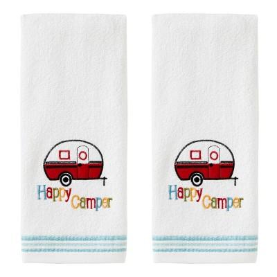 2pc Retro Camper Hand Towel Set White - SKL Home