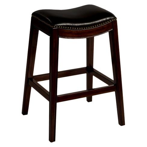 "Sorella Saddle Seat 32"" Barstool Hardwood/Black - Hillsdale Furniture - image 1 of 3"