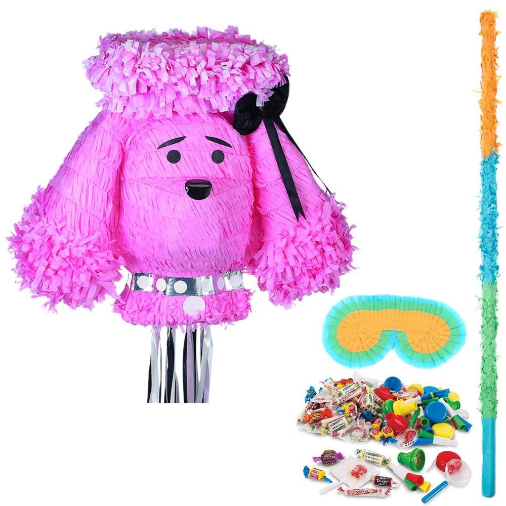 Pink Poodle Pinata Kit, Multi-Colored