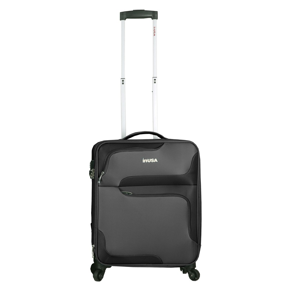 InUSA 3D-City 20 Softside Spinner Suitcase - Gray
