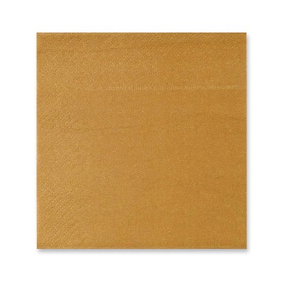 Blue Panda 150-Pack Disposable Gold Disposable Paper Napkins Party Supplies