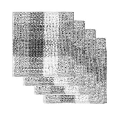 4pk Nana's Dish Cloths Gray/White - MU Kitchen