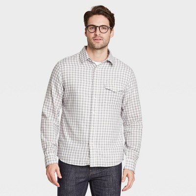 Men's Regular Fit Double Weave Long Sleeve Button-Down Shirt - Goodfellow & Co™
