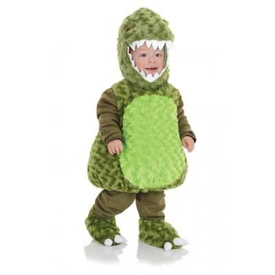 Underwraps Costumes Belly Babies T-Rex Green Dinosaur Toddler Costume 4-6 Months