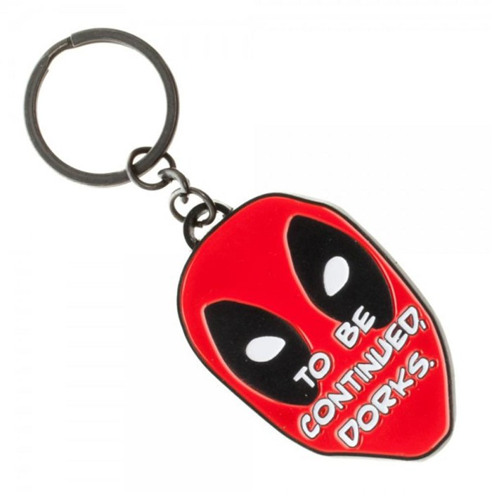 "Bioworld Marvel Deadpool ""Dorks"" Metal Keychain - image 1 of 1"