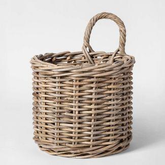 "14.5"" x 11"" Kooboo Rattan Hanging Basket Gray - Smith & Hawken™"