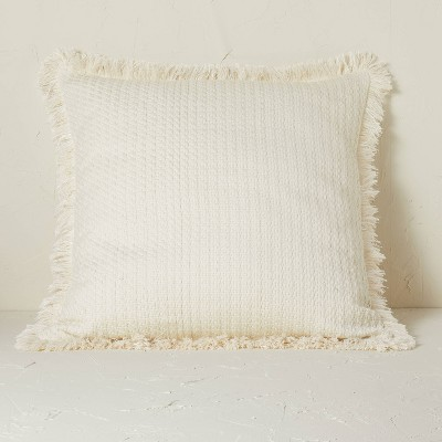 Euro Boucle Fringe Decorative Throw Pillow Off-White - Opalhouse™ designed with Jungalow™