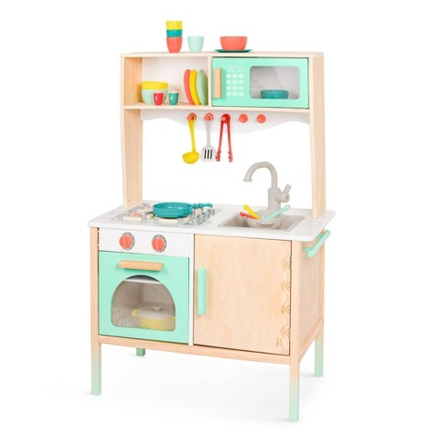 B Toys Wooden Play Kitchen And Accessories Target