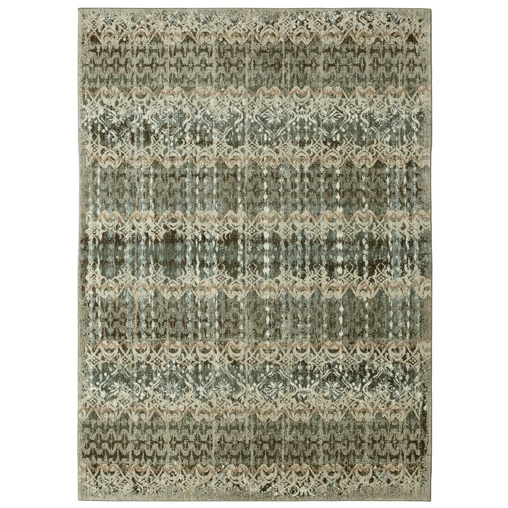 Image of 8'x10' Floral Woven Area Rug Gray - Karastan