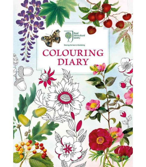 Royal Horticultural Society Colouring Diary (Hardcover) - image 1 of 1