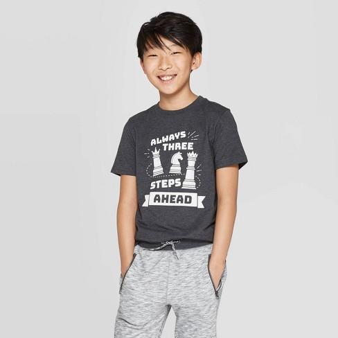 Boys' Short Sleeve Graphic T-Shirt - Cat & Jack™ Black - image 1 of 3
