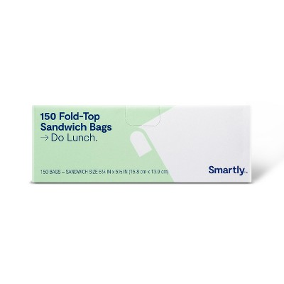 Fold Top Sandwich Bags - 150ct - Smartly™
