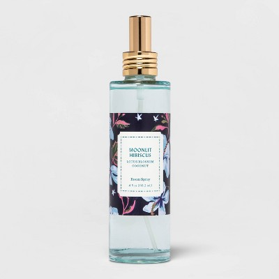4 fl oz Blue Glass Jar Mandarin Hibiscus Room Spray - Opalhouse™