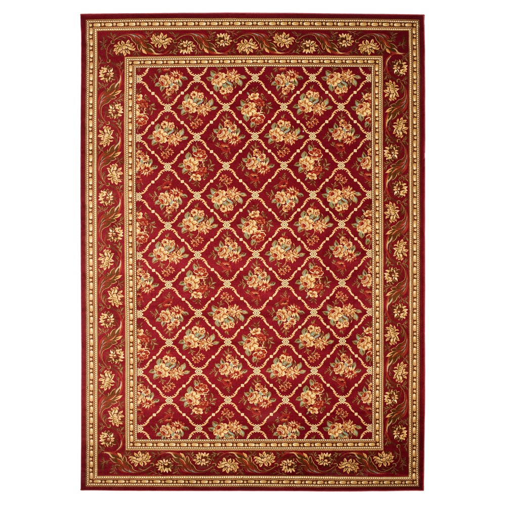 Red Floral Loomed Area Rug 9'X12' - Safavieh