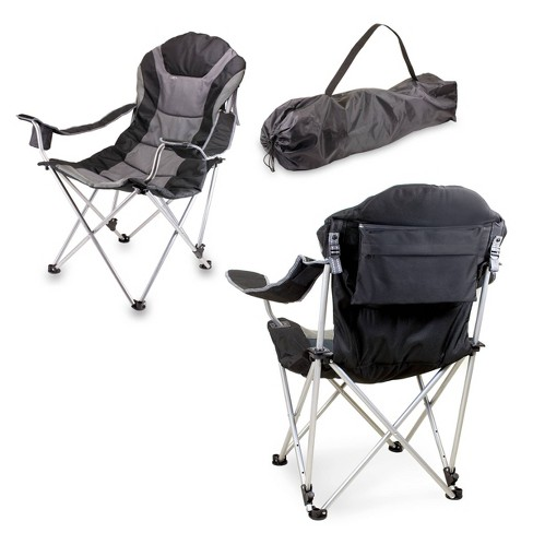 Picnic Time Reclining Camp Chair with Carrying Case - Black - image 1 of 4
