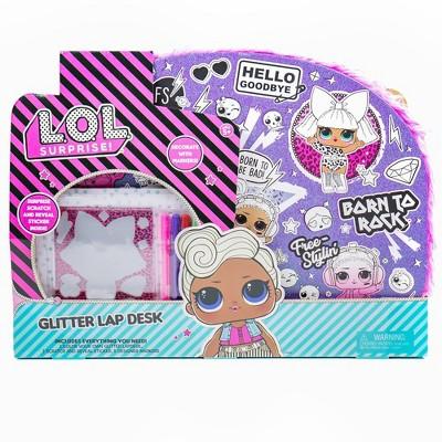 L.O.L. Surprise! Glitter Lap Desk with Markers