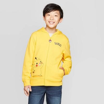 Boys' Pokemon Pikachu Costume Fleece Sweatshirt - Yellow/Black