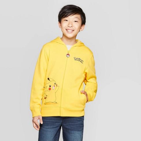 Boys' Pokemon Pikachu Costume Fleece Sweatshirt - Yellow/Black - image 1 of 3