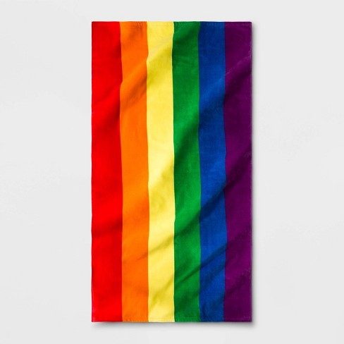 Pride Beach Rainbow Towel - One Size - image 1 of 1
