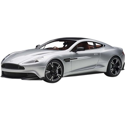 2017 Aston Martin Vanquish S RHD (Right Hand Drive) Lightning Silver with Carbon Top 1/18 Model Car by Autoart