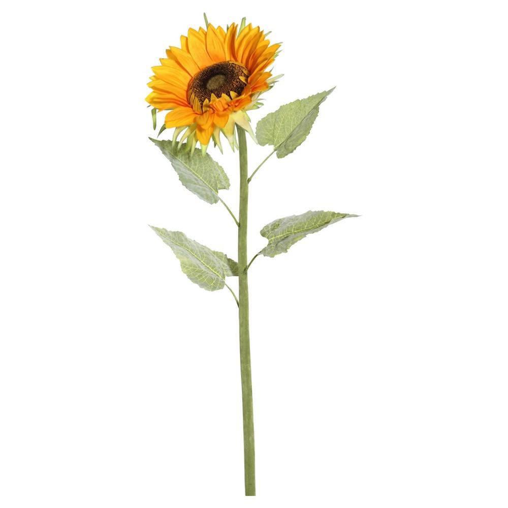 Artificial Sunflower Stem (40) Yellow - Vickerman
