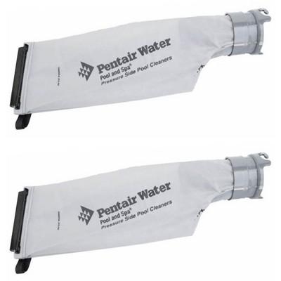 2) Pentair 360009 Letro Legend Snap Lock Cleaner Gray Replacement Debris Bags