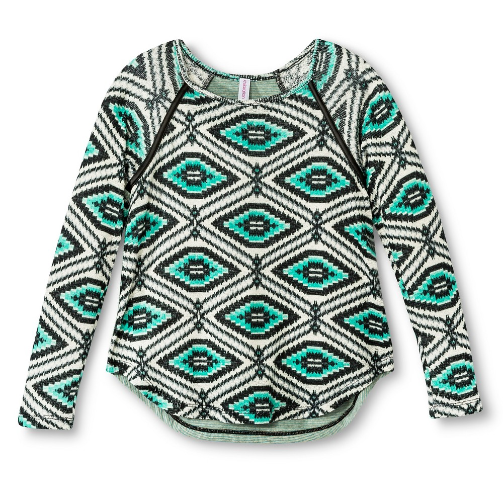 Girls' Lightweight Sweater - Xhilaration Green M