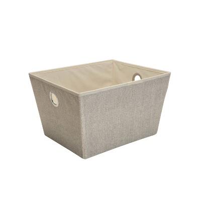 Simplify Large Grommet Storage Bin Brown