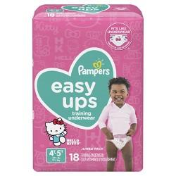 ddffd07f1b9 Pampers Easy Ups Girls Training Pants Super Pack : Target
