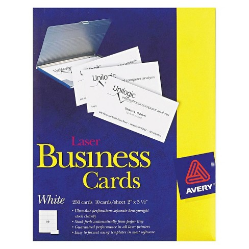 Avery 2 x 3 12 laser two side printable business cards white avery 2 x 3 12 laser two side printable business cards white 250 pk colourmoves