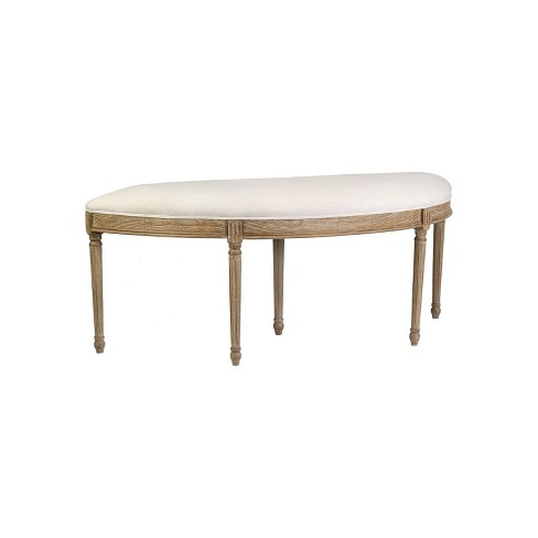 Colette Mahogany Bench Cream - East At Main - image 1 of 4