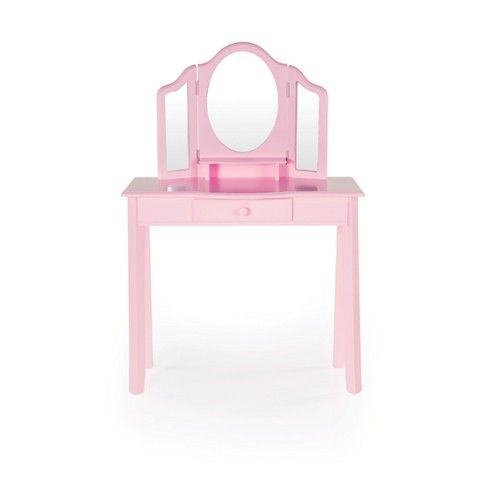 Classic Vanity And Stool Pink Guidecraft Target