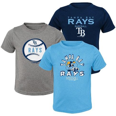 wholesale dealer 86b6a 652fb MLB Tampa Bay Rays Toddler Boys' Gray T-Shirt 3pk
