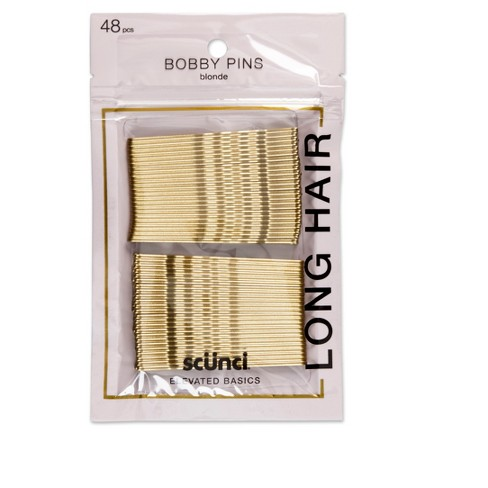 Conair Scunci Extra Long Bobby Pins Blonde - 48pk - image 1 of 2