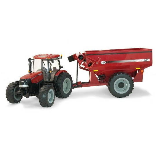 Big Farm 1:16 Case 180 with J and M Grain Cart image number null