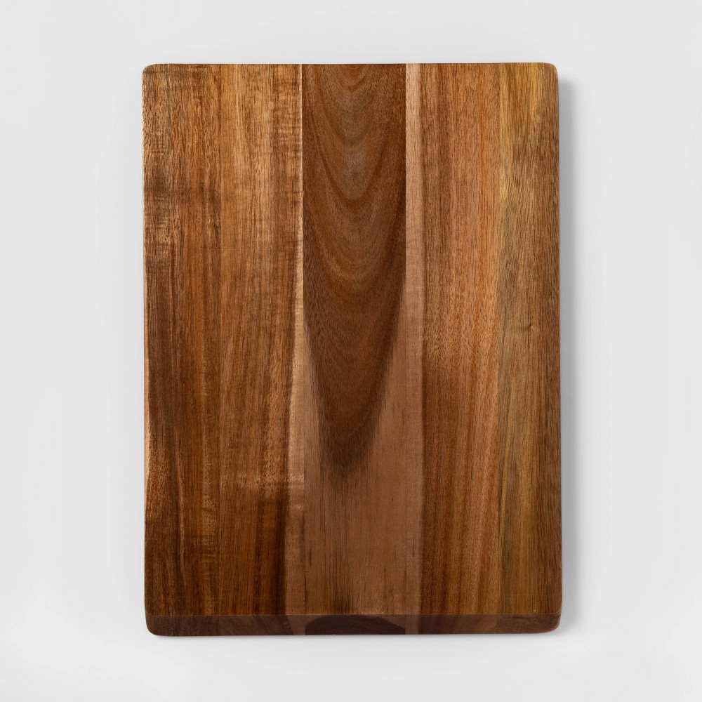 "Image of ""13""""x18"""" Acacia Wood Nonslip Serving and Cutting Board - Made By Design"""