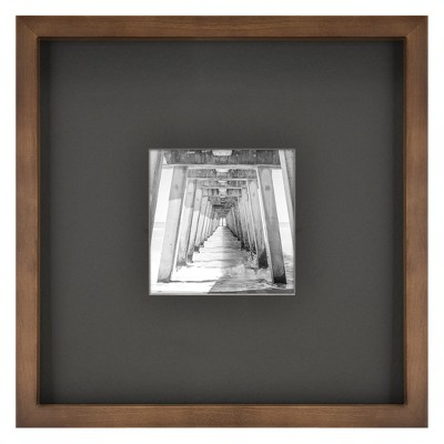 5  x 5  Matted Mid Tone Wood Picture Frame Brown - Project 62™