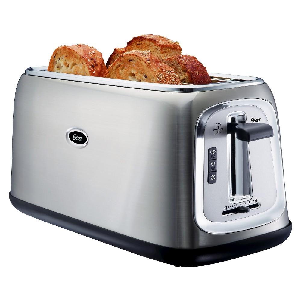 Oster 4-Slice Long-Slot Toaster - Stainless Steel TSSTTRJB30R, Silver