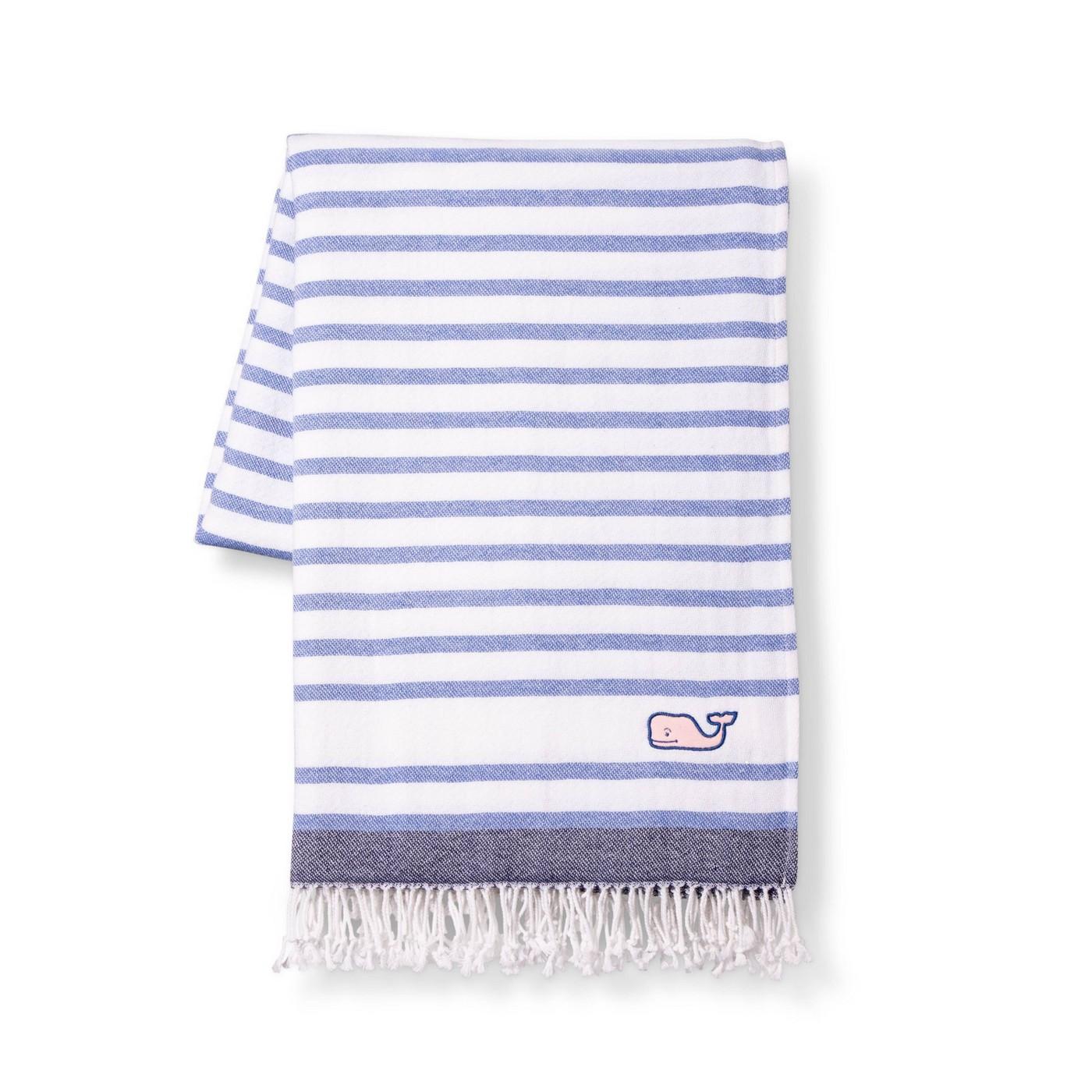 Striped Throw Blanket - Blue/White - vineyard vines® for Target - image 1 of 2