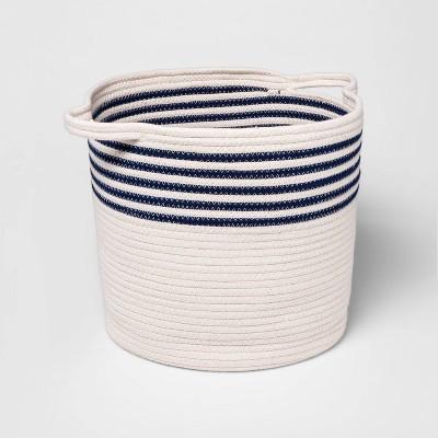 Coiled Rope Bin - Cloud Island™ Navy Stripes