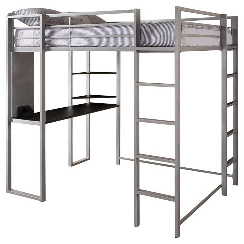 Adele Loft Bed with Desk (Full) Silver - Room & Joy - image 1 of 3