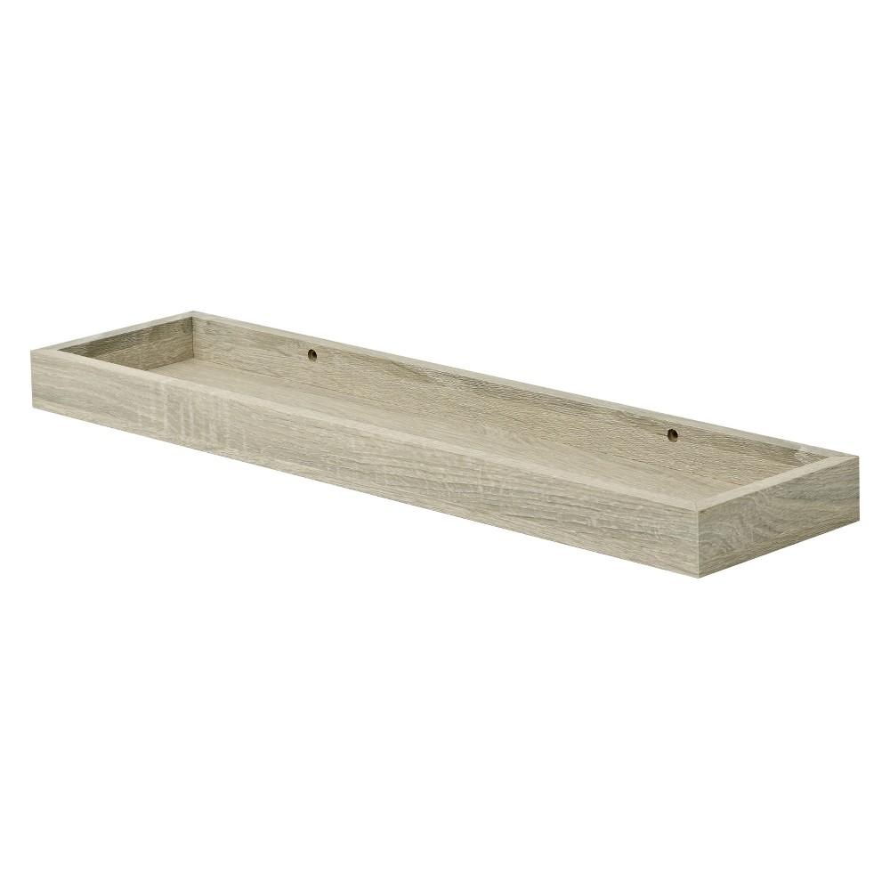 "Image of ""Wood Wall Shelf 24"""" Brown"""
