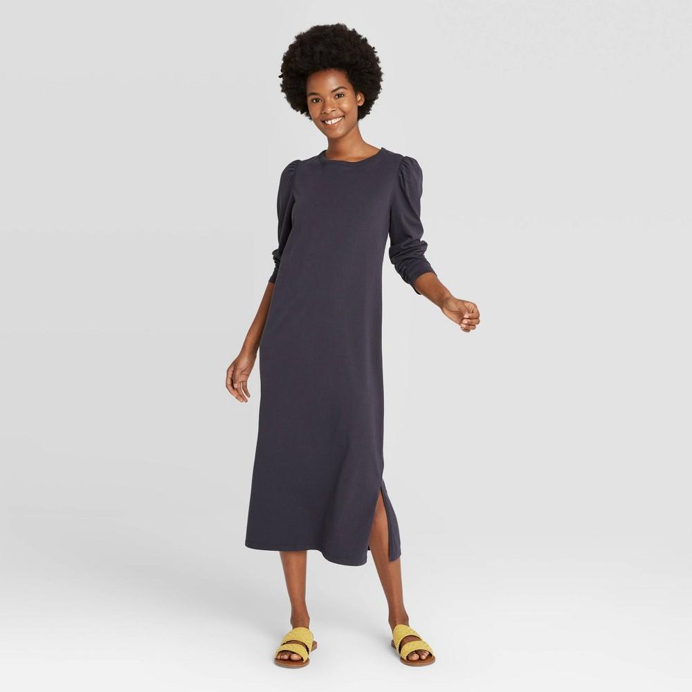 Women 39 S Puff Long Sleeve T Shirt Dress Universal Thread 8482 Charcoal Gray Xl