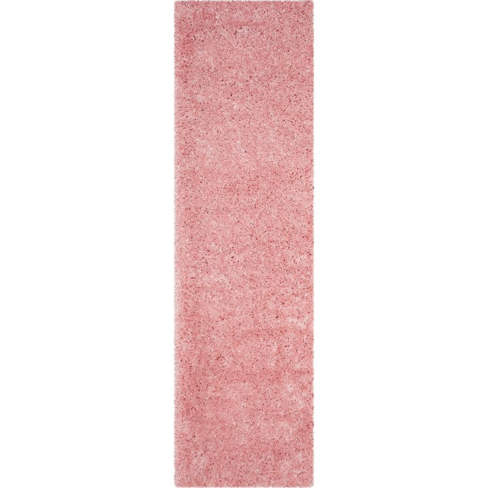 2 39 3 34 X10 39 Runner Solid Loomed Rug Light Pink Safavieh