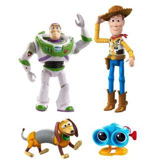 Disney Pixar Toy Story Andy's Toy Chest Retro Figure 4pk