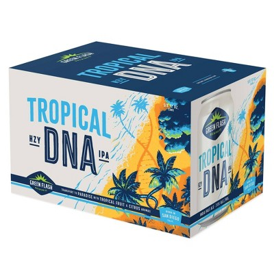 Green Flash Tropical DNA IPA Beer - 6pk/12 fl oz Cans