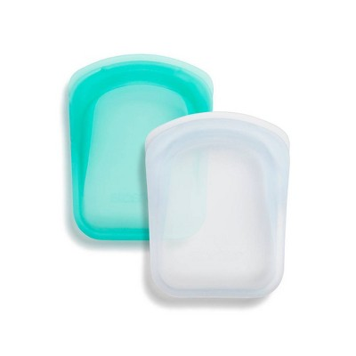 stasher Pocket Accessories Set - Clear & Blue - 2pc
