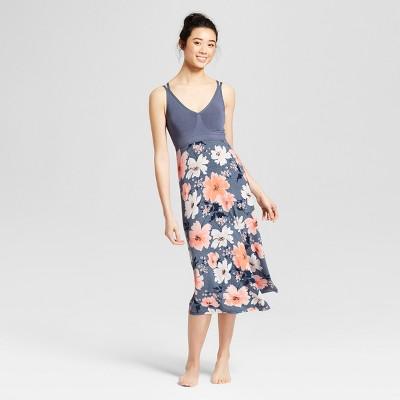 Women's Floral Print Sleep Chemises - Gilligan & O'Malley™ Blue M